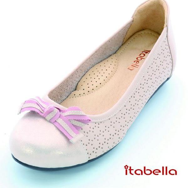 本週下殺★2016新品★itabella.舒適Q軟羊皮洞洞包鞋(粉色)