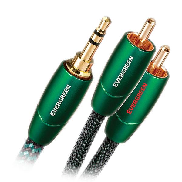 美國 Audioquest EVERGREEN 3.5mm轉RCA訊號線 (3.5mm - RCA) - 1m