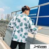 沙灘襯衫 新夏威夷夏季復古男襯衫vintage五分袖寬鬆港風旅行沙灘薄襯衣ins 酷男