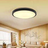 吸頂燈 現約現代鋁材白光暖光三色變光黑色白色LED吸頂燈臥室燈110V可用T【潮男一線】