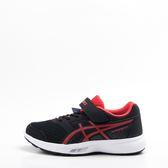Asics  STORMER 2 PS 兒童慢跑鞋-黑/紅 C812N-001