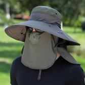 釣魚帽子男遮陽帽夏季戶外防曬太陽帽