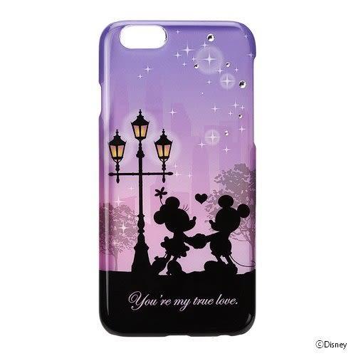 【漢博商城】iJacket iPhone 6/6S 4.7 迪士尼 豪華套裝 硬式手機殼 摺疊鏡 附拭布 剪影系列 - 米奇米妮