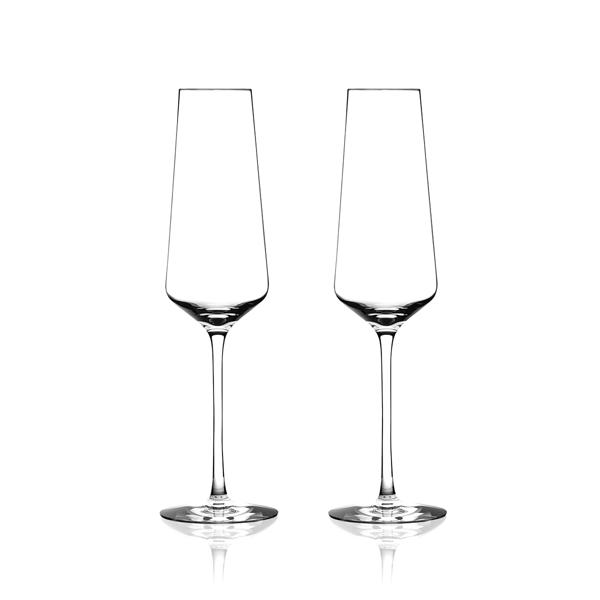 斯洛維尼亞 Rogaska Stone S/2 Flute 藍色東歐系列 手工水晶 香檳酒杯 兩件組