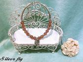 《 SilverFly銀火蟲銀飾 》草莓晶天然石純銀手鍊