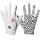 高爾夫女士手套PU皮革左右手1雙透氣硅膠顆粒防滑 【快速出貨】