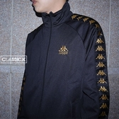 【現貨】Kappa 222 Banda 側線 拉外套 黑色金邊條 黑金 單件外套 KIFP452MN-BLK