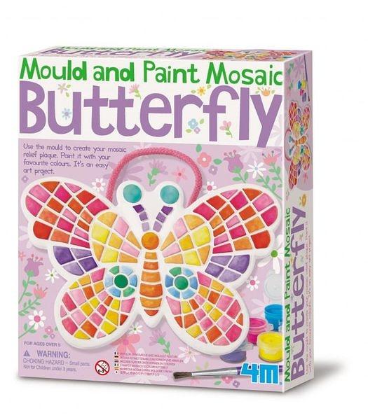 【4M】04615 美勞創意-馬賽克蝴蝶掛飾 Mould&Paint Mosaic Butterfly