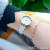 手錶女學生韓版簡約休閒大氣時尚潮流chic風女錶防水女生少女心QM 美芭