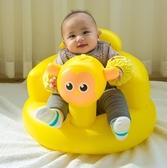 嬰兒學座椅坐姿創意練習多功能小孩背靠板凳嬰幼兒充氣小沙發禮物