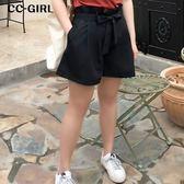 中大尺碼  高腰束口寬短褲(附腰帶)~共兩色 - 適XL~4L《 68036 》CC-GIRL