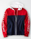 (BJGO) AMERICAN EAGLE_男裝_AE COLOR BLOCK ZIP-UP HOODIE美國AE高性能運動連帽外套 最新代購