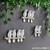 壁掛 歐式田園立體小鳥壁飾壁掛墻飾客廳玄關服裝店墻面裝飾 莫妮卡小屋 IGO