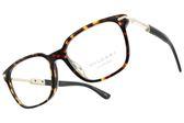 BVLGARI 光學眼鏡 BG3034KF 5286 (琥珀棕-金) 質感大方框計款 平光鏡框 #金橘眼鏡