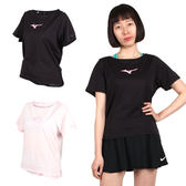MIZUNO 女瑜珈短袖T恤 (免運 短T 短袖上衣 韻律 慢跑 美津濃≡排汗專家≡
