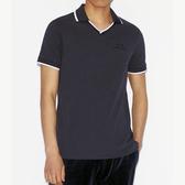 AX阿瑪尼V短袖修身Polo(深藍色)