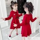 洋裝 女童新款連身裙春裝中大童春秋季兒童洋氣童裝小女孩長袖時髦裙子 韓慕精品