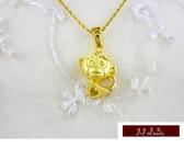 9999純金 黃金墜飾 可愛造型  愛心猴  黃金墜子
