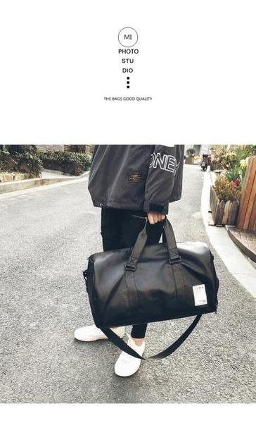 短途旅行包男出差手提包女大容量皮質旅游包行李包袋運動健身包潮   東川崎町   東川崎町
