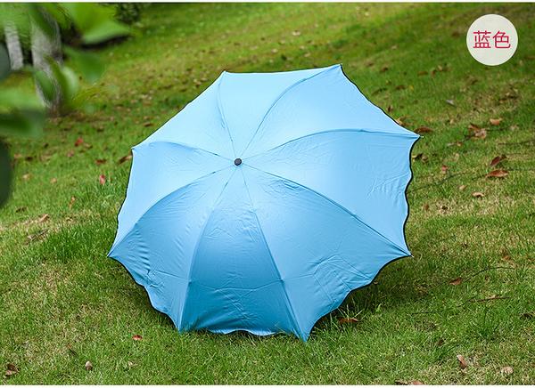 TwinS好漂亮●遇水開花●晴雨傘 遮陽傘女傘摺疊傘【好品質 火熱銷售】8骨加厚三層內黑膠