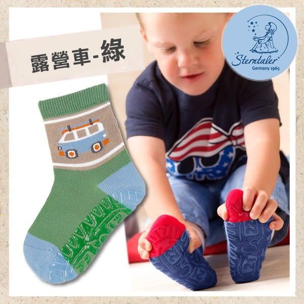 防滑輕薄學步襪-露營車綠(9-11cm) STERNTALER C-8021602-256