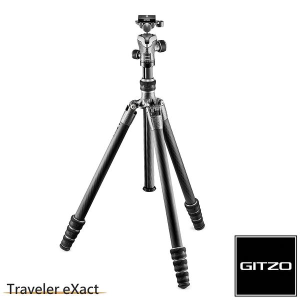 【聖影數位】法國 GITZO Traveler eXact GK1545T-82TQD 碳纖維三腳架雲台套組 1號4節-旅行家系列 公司貨