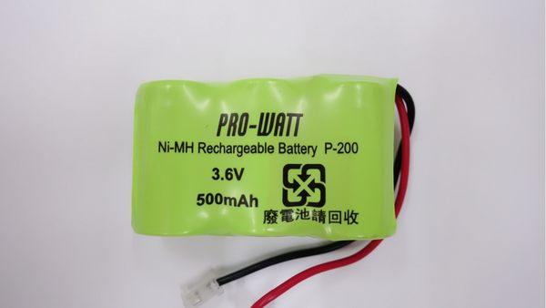 全館免運費【電池天地】PRO-WATT P200萬用接頭 無線電話電池3.6V 500mah