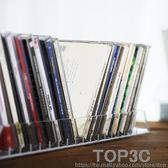 時尚簡約設計亞克力透明水晶感多格桌面CD盒碟片收納盒CD陳列架igo「Top3c」