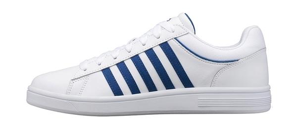 【超取】K-SWISS Court Winston 時尚運動鞋-男-白/經典藍