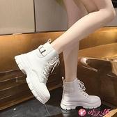 馬丁靴 時尚短靴女2021年秋冬新款顯腳小英倫潮機車靴加絨瘦瘦馬丁靴 小天使