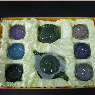 8頭茶具套裝精美冰裂釉茶具