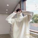 高領毛衣男寬鬆厚款打底衫秋冬季針織衫【繁星小鎮】