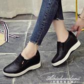 厚底鞋女增高鞋平底增高鞋套腳街拍休閒鞋 黛尼時尚精品
