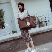 旅行包 旅行袋可愛韓版大容量旅行包女手提旅游包包包帆布短途行李袋網紅 polygirl