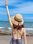 遮陽帽 草帽女夏天小清新正韓百搭帽子海邊遮陽沙灘帽網紅防曬太陽漁夫帽【降價兩天】