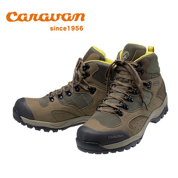 【日本Caravan】 C1_02S 中筒登山健行鞋 2020限定版 橄欖綠