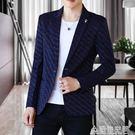 春秋季休閒西服男士修身帥氣青年韓版小西裝外套潮流單西上衣薄款 造物空間