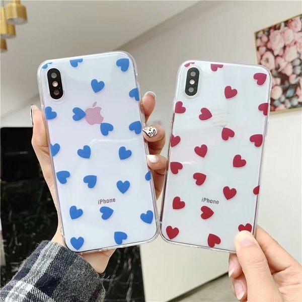 【SZ13】滿屏小愛心 情侶iphone xs max 手機殼 iphone 7 plus手機殼 iphone8手機殼 iphone xs手機殼