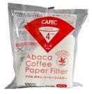 金時代書香咖啡 CAFEC ABACA 棉麻濾紙 04 錐形漂白款錐形濾紙 2-4人份 100入/包 AC4-100W