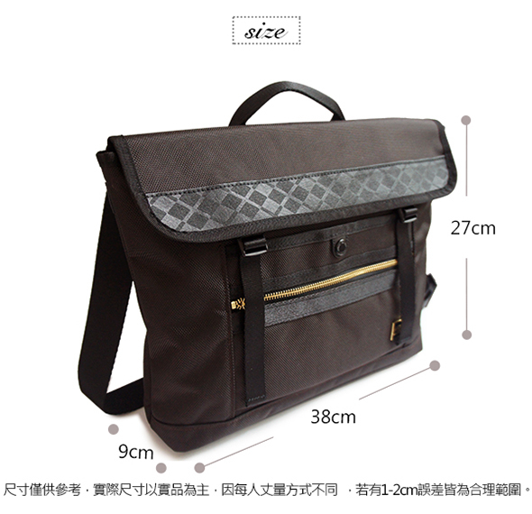CORRE【PR013】1680D造型兩用斜背包