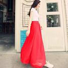 長裙 必備款百搭多色純色雪紡半身裙長裙-80CM【LAC1306-80】 icoca  02/01