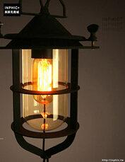 INPHIC- 工業風格復古吊燈美式創意咖啡館酒吧吧台鍋蓋鳥籠單頭吊燈-H款_S197C