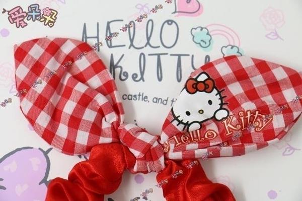 (現貨特價)日本質感可愛 HELLO KITTY 凱蒂貓 兔耳朵造型裝飾 髮圈 綁頭髮 馬尾 兒童髮圈*HAIR魔髮師*