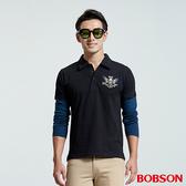 BOBSON 男款袖子配色POLO上衣 (35018-88)
