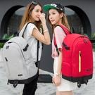 韓版雙肩包女中學生書包男大容量帆布旅行包電腦包休閑運動背包潮 伊衫風尚