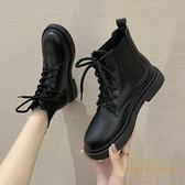 短靴矮靴子秋鞋女百搭冬英倫風馬丁靴【繁星小鎮】