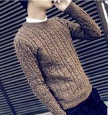 618大促 男士毛厚款圓領韓版毛衫針織衫修身線衣男裝衣服
