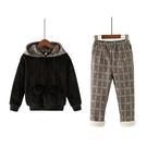 女童套裝冬裝免運新款運動潮衣服洋氣兒童秋冬加絨加厚衛衣兩件套