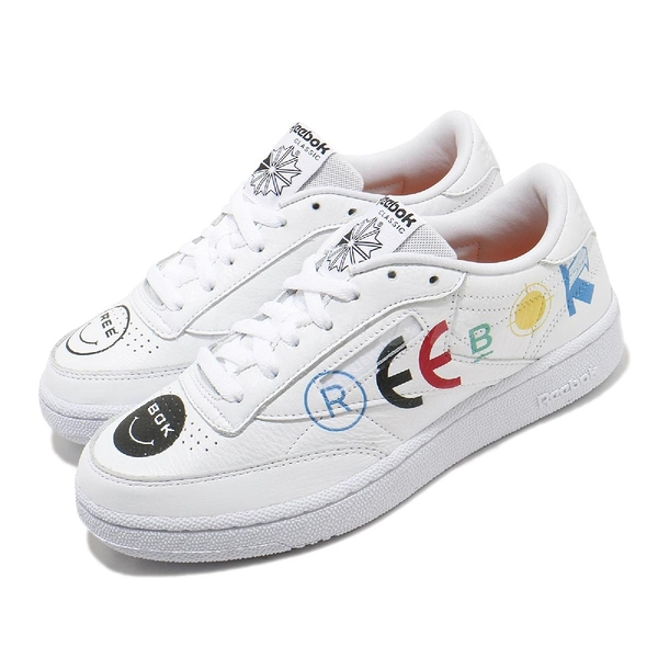 Reebok 休閒鞋 Club C 85 BEP 白 黑 男鞋 女鞋 Black Eye Patch 運動鞋 【PUMP306】 FY3073