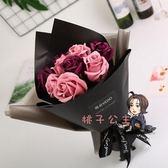 禮物 情人節禮物11朵手捧香皂花玫瑰花束送男女朋友閨蜜生日禮物小禮品 8色